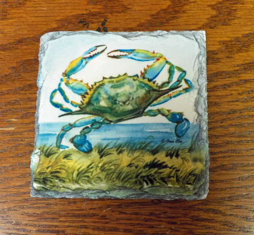 Blue Crab - 4 Slate Drink Coasters