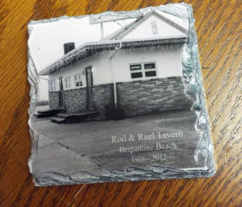 Brigantine's Rod and Reel Tavern  - 4 Slate Drink Coasters