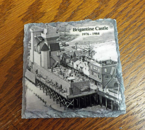 Brigantine Castle  Old Photo - 4 Slate Drink Coasters