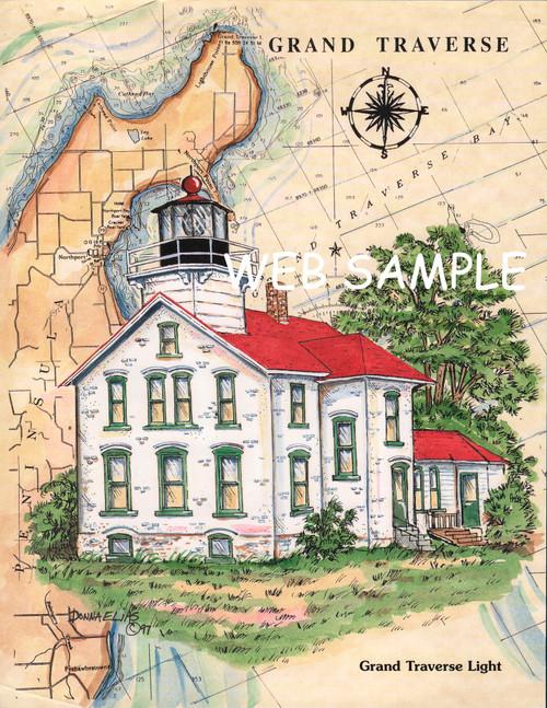 Grand Traverse Sea Chart Lighthouse