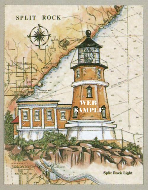 Split Rock Sea Chart Light copyright Donna Elias