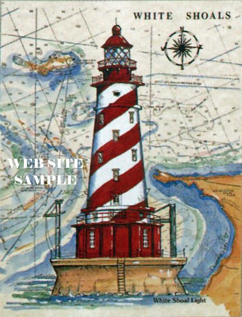 White Shoals Sea Chart Light copyright Donna Elias