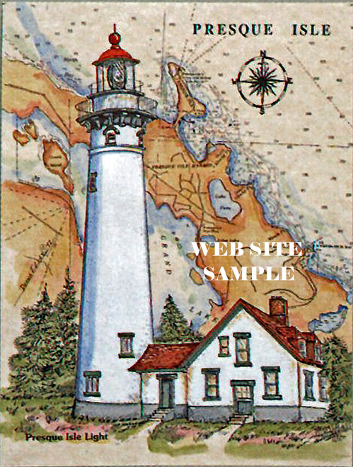New Presque Isle Sea Chart Lighthouse copyright Donna Elias