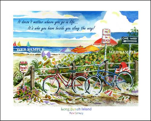 No Bikes on Beach - Long Beach Island copyright Donna Elias