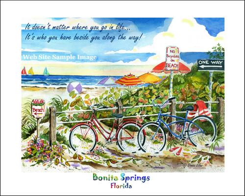 No Bikes on Beach Bonita Springs copyright Donna Elias