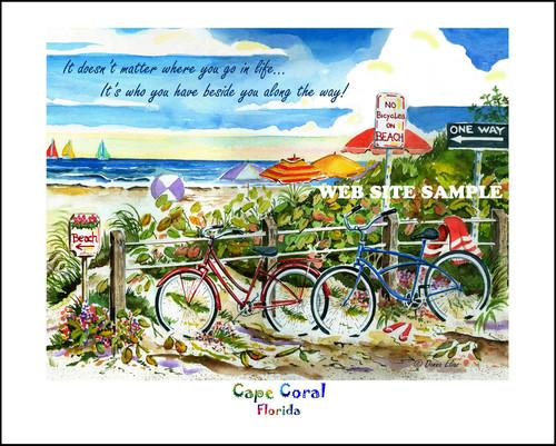 No Bikes on Beach Deerfield Beach copyright Donna Elias