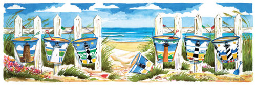 Outer Banks Buckets Jig Saw Puzzle by Donna Elias