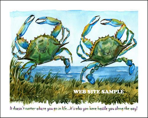 Two Dancing Crabs copyright Donna Elias