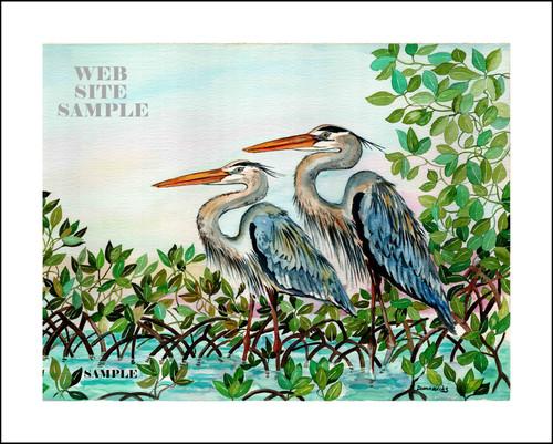 Blue Herons copyright Donna Elias