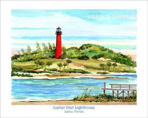 Jupiter Inlet Lighthouse copyright 2020 by Donna Elias