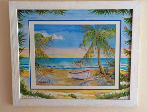 Palm Trees and Boat copyright Donna Elias