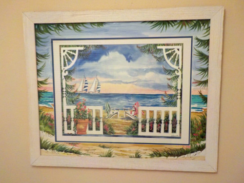 From the Porch custom framed fine art print with ORIGINAL Hand Painted Matting