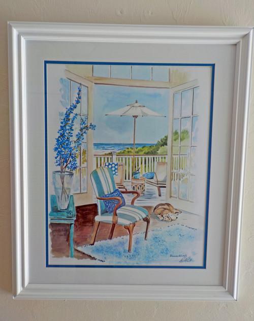 Seaside Dream custom framed Fine Art Print