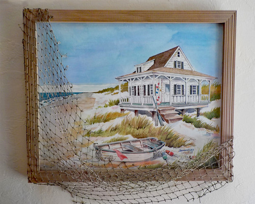 Beach Cottage and Boat copyright Donna Elias