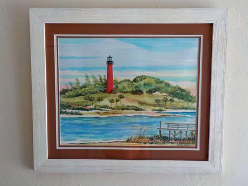 Jupiter Inlet Lighthouse original painting copyright Donna Elias