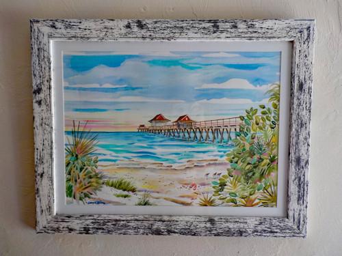Naples Pier Original Painting copyright Donna Elias