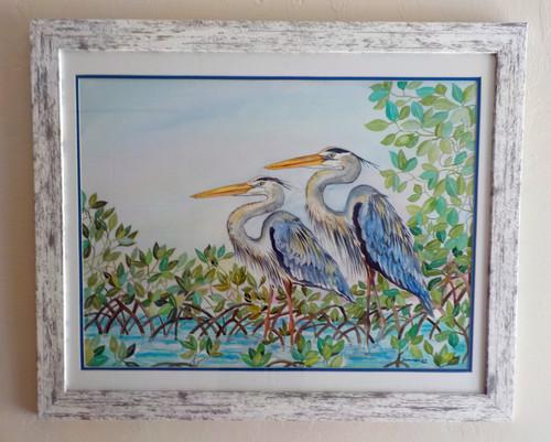 Blue Herons Original Painting copyright Donna Elias