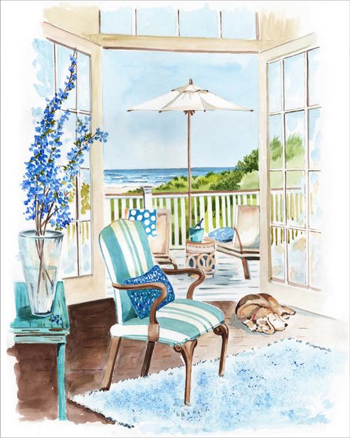 Seaside Dream ORIGINAL Watercolor Painting
