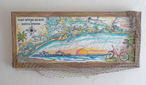 Charting Fort Myers Beach to Bonita Springs copyright Donna Elias