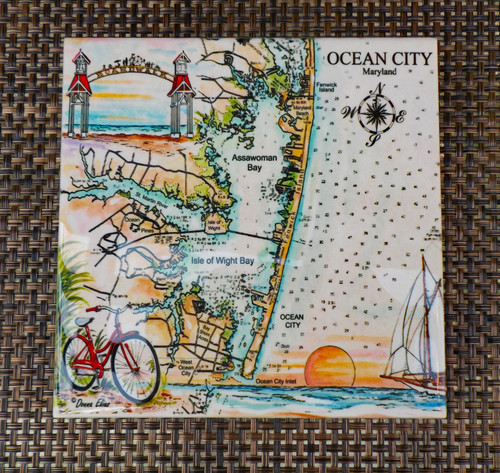 Charting Ocean City, Maryland tile copyright Donna Elias
