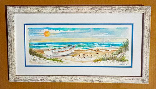Surfboat Serenity Two ORIGINAL Watercolor Painting