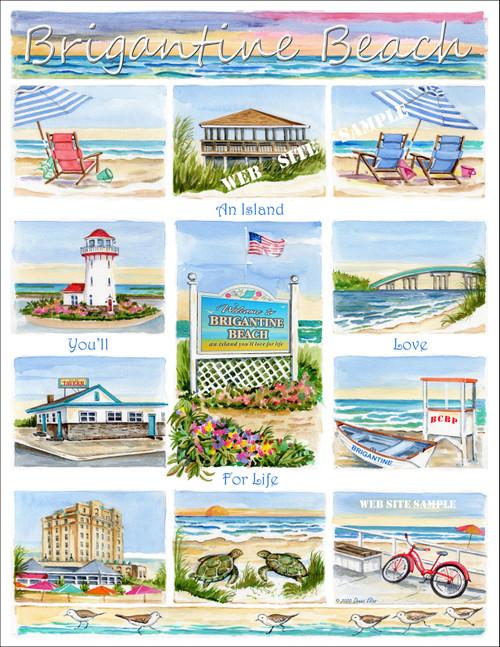 Brigantine Beach - An Island You'll Love for Life copyright Donna Elias