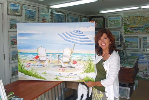 Coastal View copyright Donna Elias. Shown with the artist.