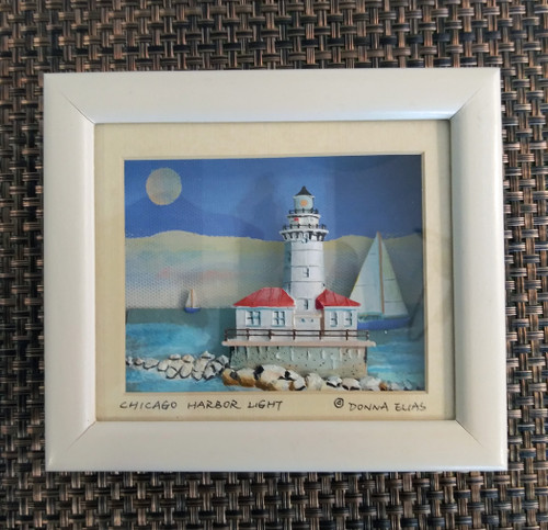 Chicago Harbor Lighthouse - 3D Shadow Box