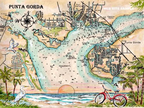 Charting Punta Gorda copyright Donna Elias