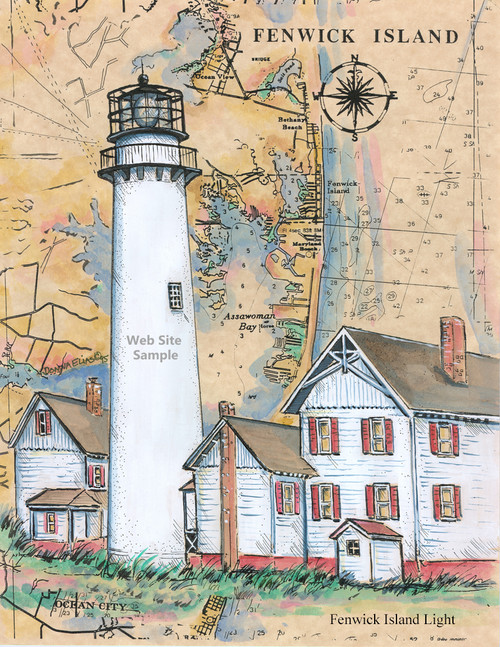 Fenwick Island Sea Chart Light copyright Donna Elias