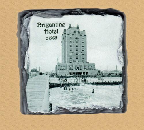 Brigantine Hotel Old Photo  - 4 Slate Drink Coasters