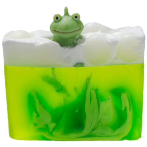 handmade soap, glycerine, vegan friendly, ph neutral, essential oils, toy, frog, green frog