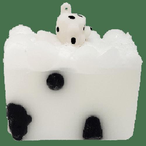 handmade soap, glycerine, vegan friendly, ph neutral, essential oils, toy, dog, puppy, dalmatian