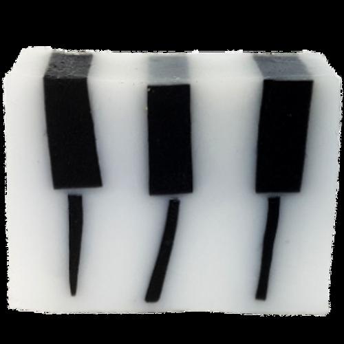 handmade soap, glycerine, vegan friendly, ph neutral, essential oils, piano soap, keyboard, keys