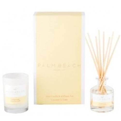 Australian made mini diffuser with 2 months scent life and mini candle in a gift pack