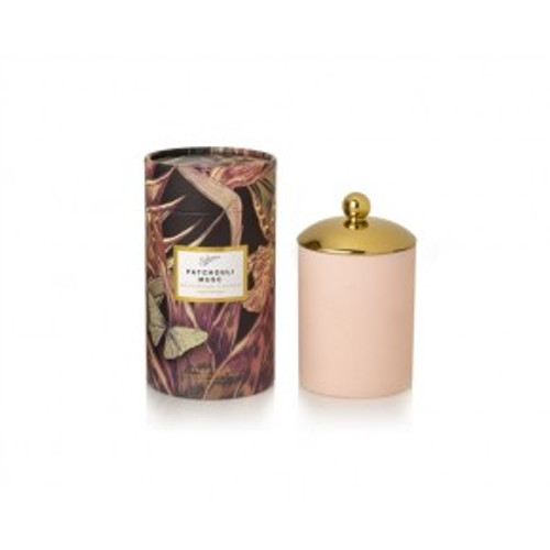 Australian made boxed Eco Cedarwick Candle with gold candle lid Up to 60 hours burn time