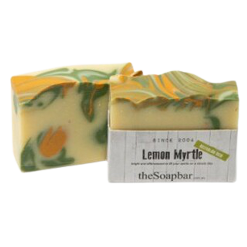 Australian handmade natural soap with natural ingredients, natural oils and essential oils, lemon myrtle