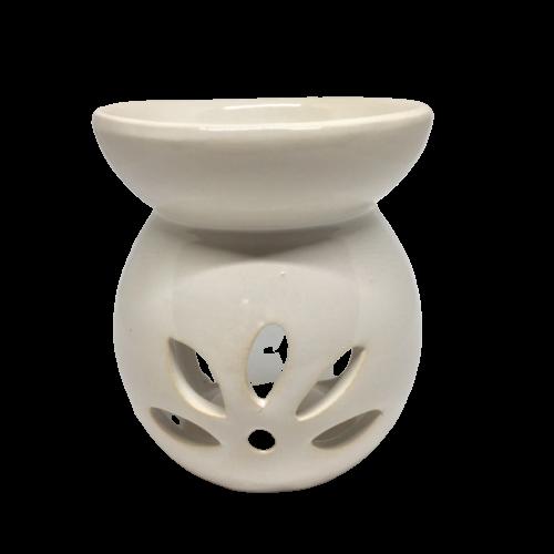 Wax Melt and Oil Burner - White Round