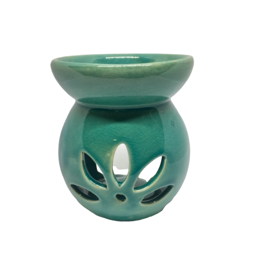Wax Melt and Oil Burner - Jade Round