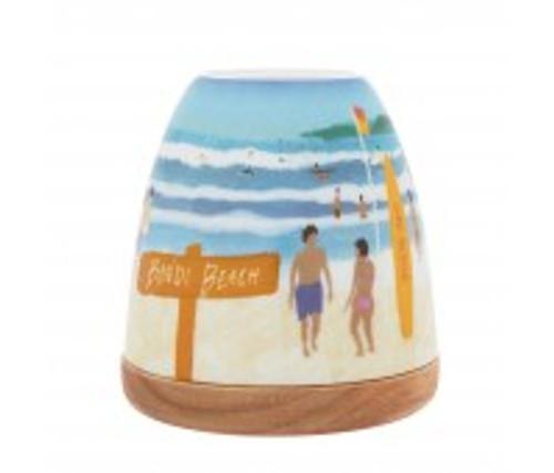 bondi beach porcelain tea light holder