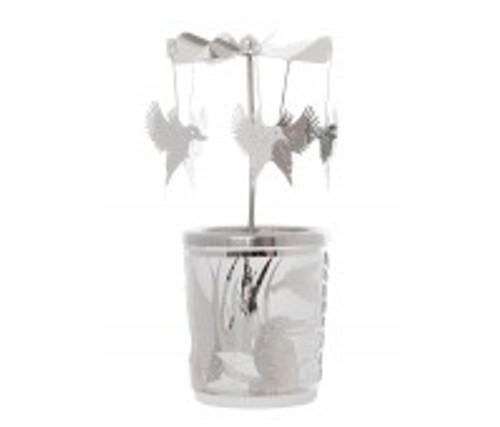 spinning carousel tea light holder
