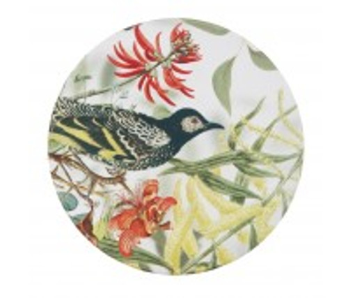 australian design ceramic round coaster with a cork backing