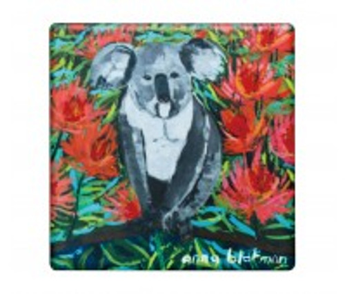 australian design ceramic square coaster with a cork backing