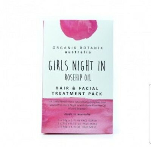 Girls Night In Rosehip Oil Hair And Facial Treatment Pack