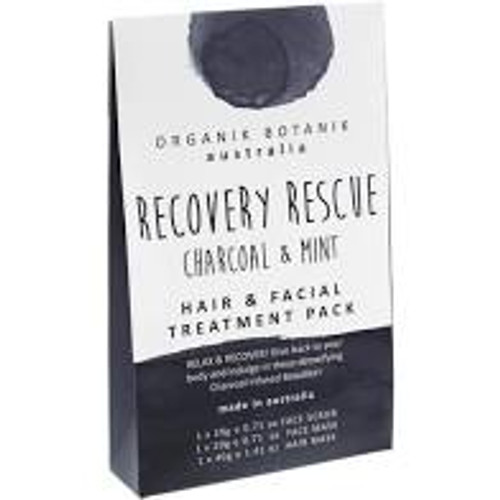 Hair & Facial Treatment Pack - Recovery Rescue Charcoal and Mint