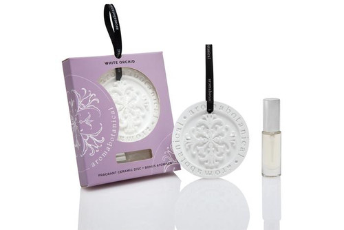White Orchid Fragrant Ceramic Disc