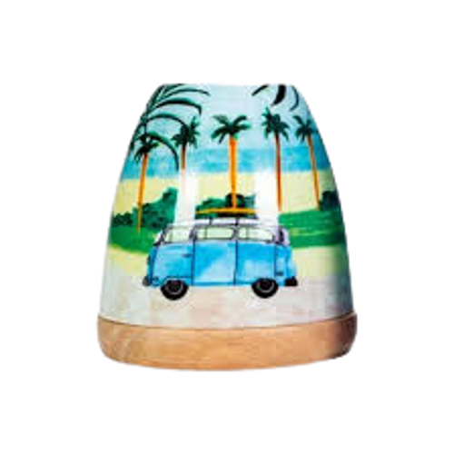 porcelain Kombi blue candle holder
