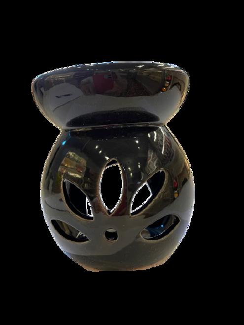 Wax Melt and Oil Burner - Black Round