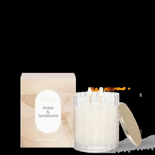 Amber & Sandalwood Soy Candle