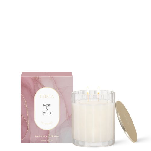 Rose & Lychee Soy Candle